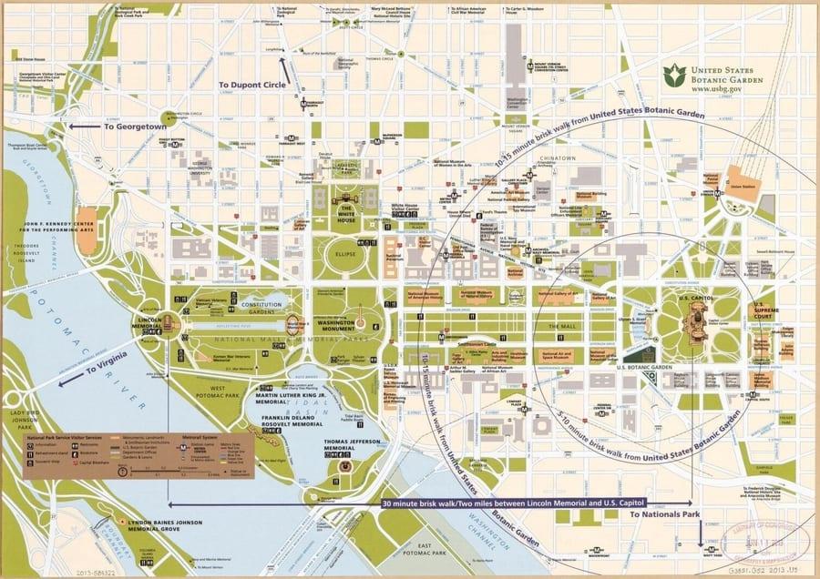 mapa callejero de washington Estados Unidos