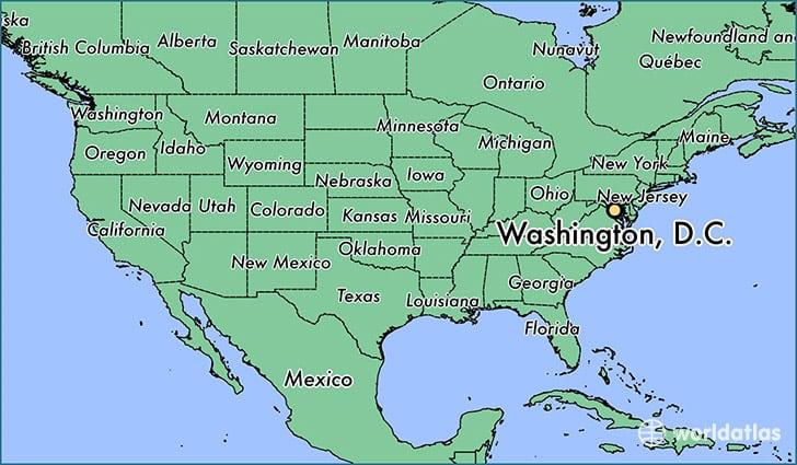 united states map washington Washington D C Maps The Tourist Map Of D C To Plan Your Visit