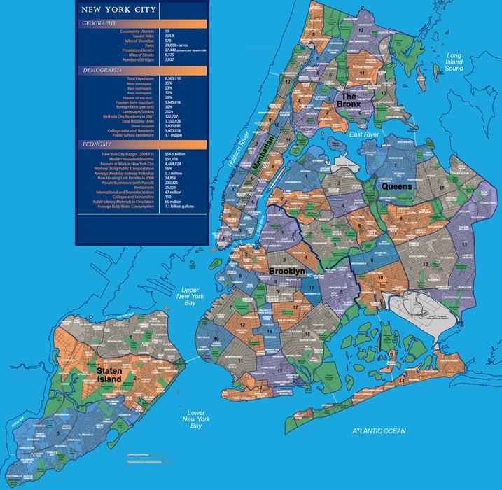 mapa barrios Nueva York