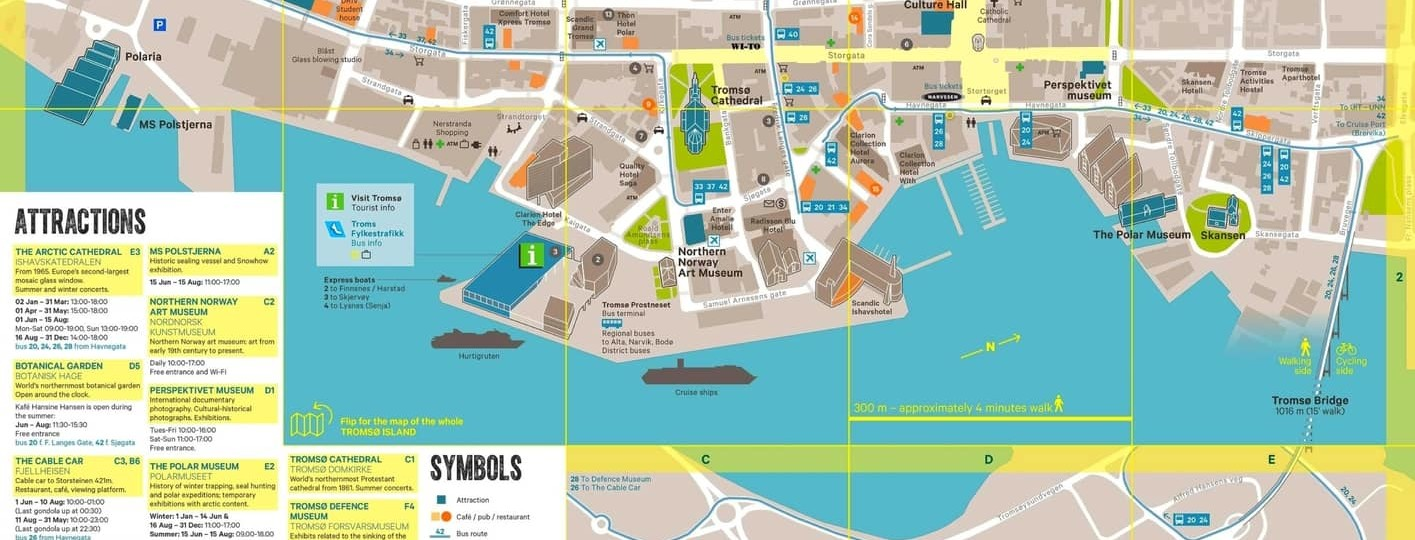 Tromso tourist maps