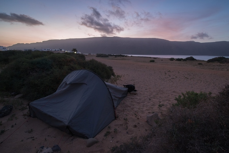 Campsites in La Graciosa, Lanzarote