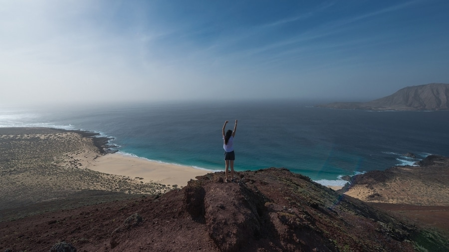 Montaña Bermeja, one of the best things to visit in La Graciosa, Canary Islands