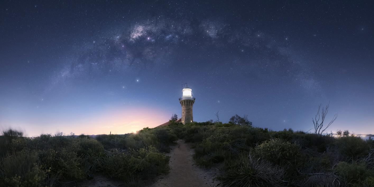 fotografía de estrella de larga exposición