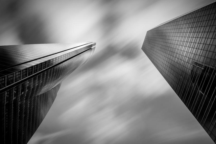 fotografía en blanco y negro y de larga exposición