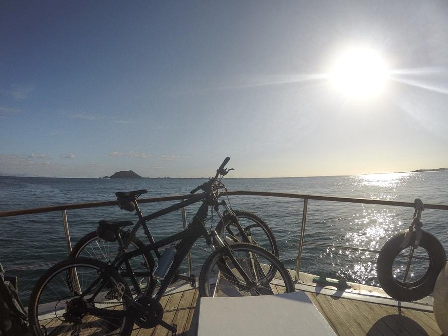 Moverse en bici por Isla de Lobos, Fuerteventura