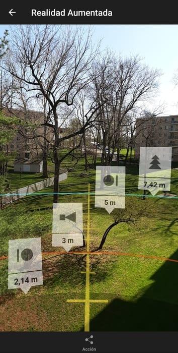 profundidad de campo con realidad aumentada