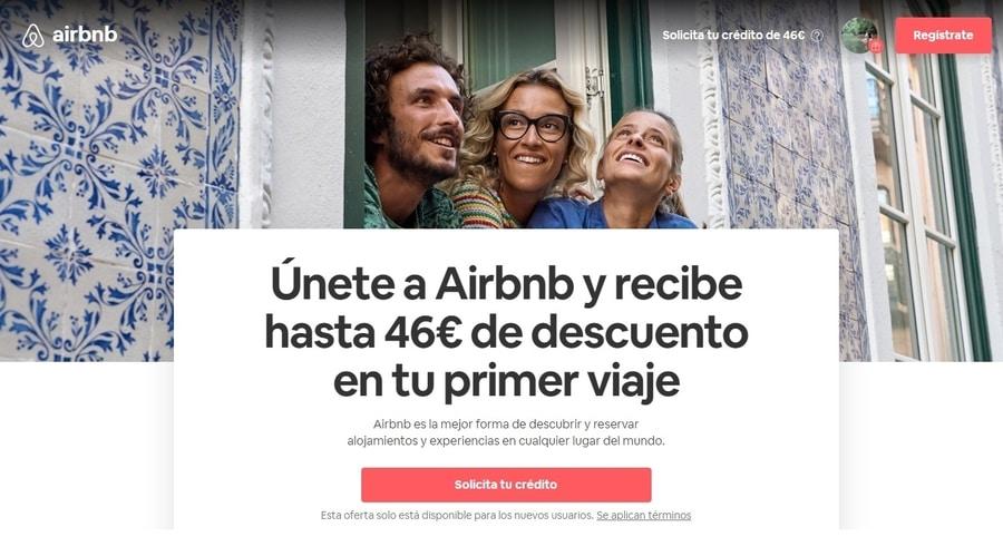 Dónde conseguir cupón descuento Airbnb