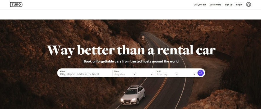 Turo, a good website to find cheapest rates on rental cars