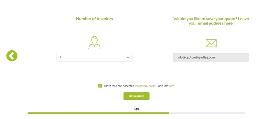 Select the number of insured persons in Heymondo