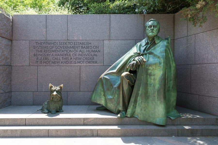 Memorial a Franklin D. Roosevelt, que visitar en Washington DC