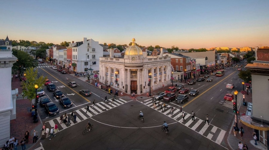 Georgetown, un barrio donde buscar alojamiento en Washington D.C., EE.UU.