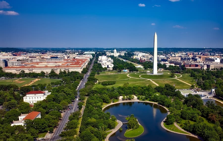 National Mall, mejor zona donde dormir en Washington D.C.