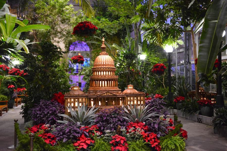 Jardín botánico de los Estados Unidos, un sitio que visitar en Washington D.C. con niños