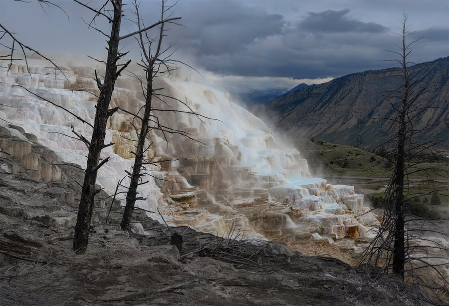 Mammoth Hot Springs, what to see in Yellowstone