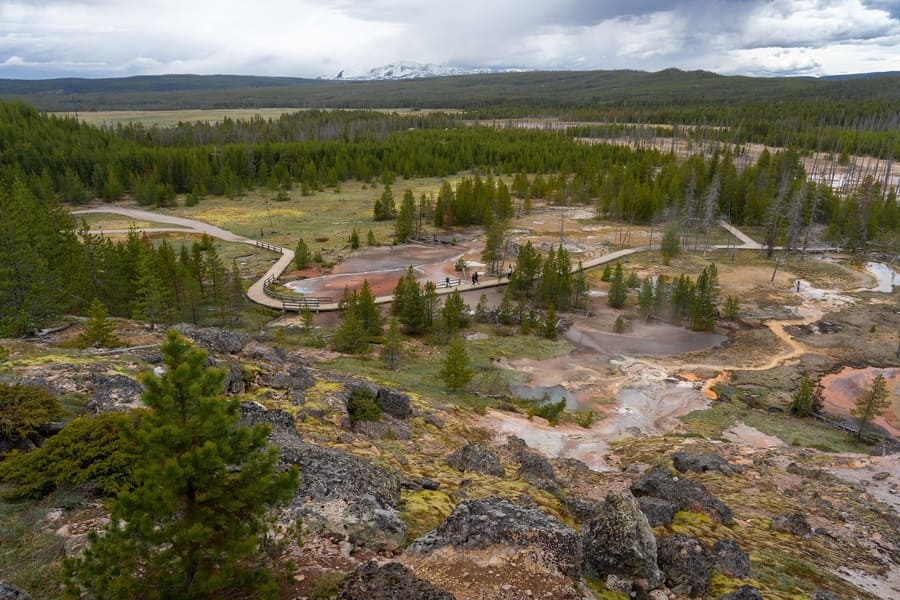 Artists Paintpots, a place to go in Yellowstone