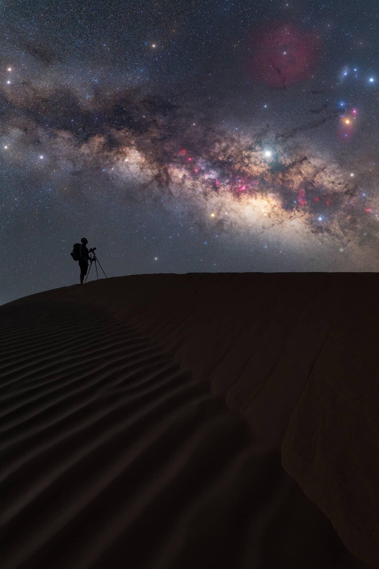 Mejores fotos de la Vía Láctea desierto del Sahara