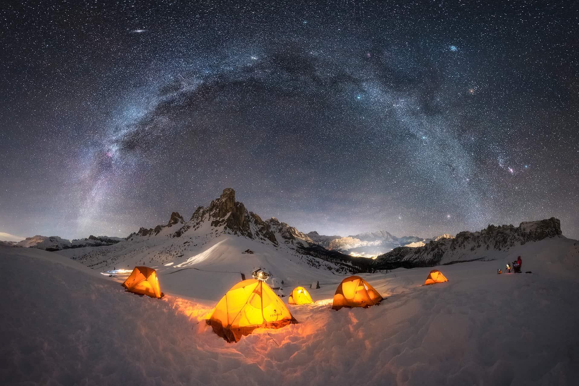 Mejores imágenes de Vía Láctea de invierno