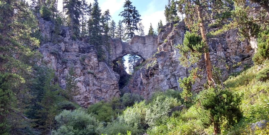 Natural Bridge, best things to do Yellowstone