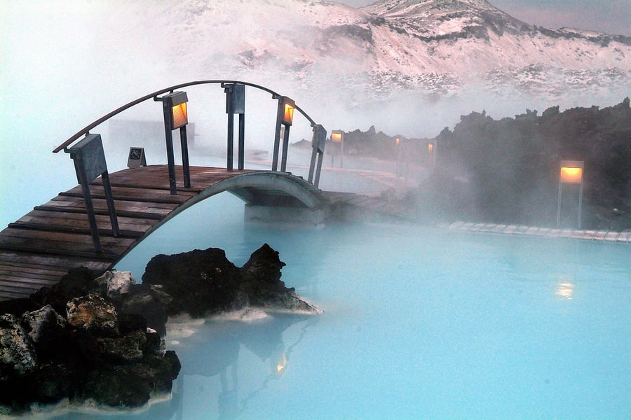 Where is the Blue lagoon located in Iceland