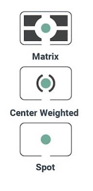 Main Camera metering modes in photography