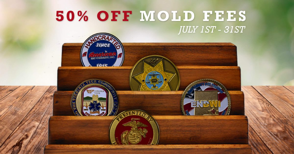 Save on Custom Challenge Coins in July!