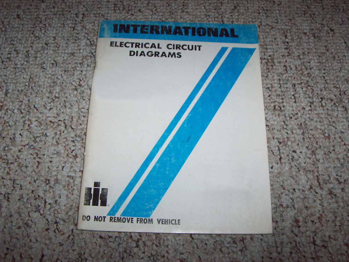 1993 International 4600  4700  4800  4900 4000 Series Trucks Chassis Electrical Wiring Circuit