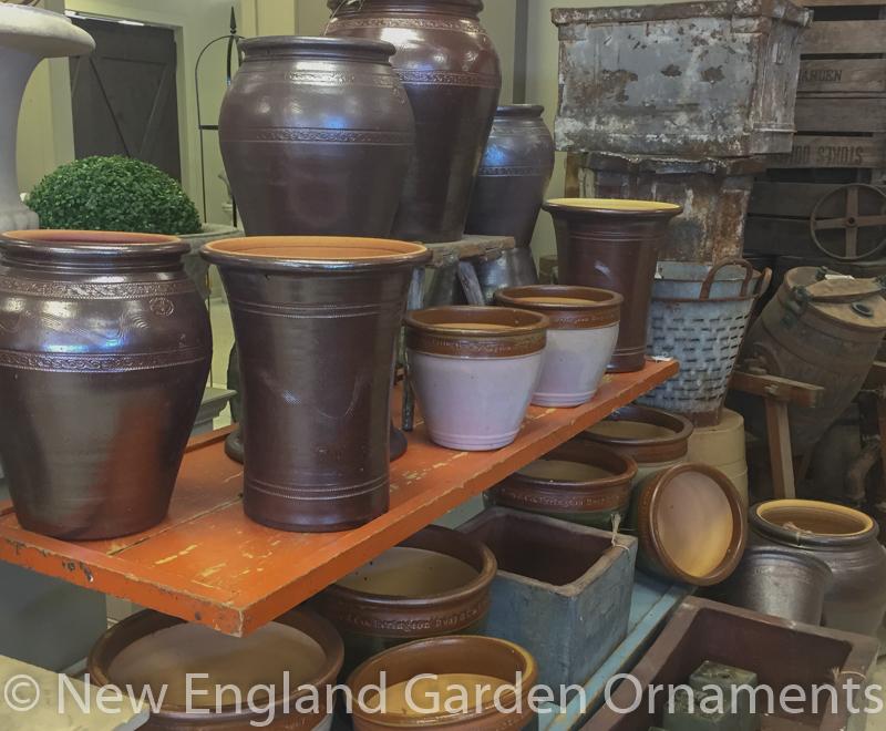 Small Square Stoneware Planter New England Garden Ornaments