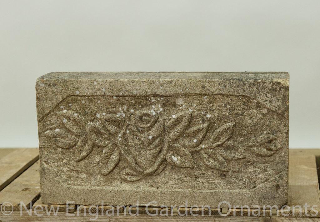 Antique Carved Floral Plaque