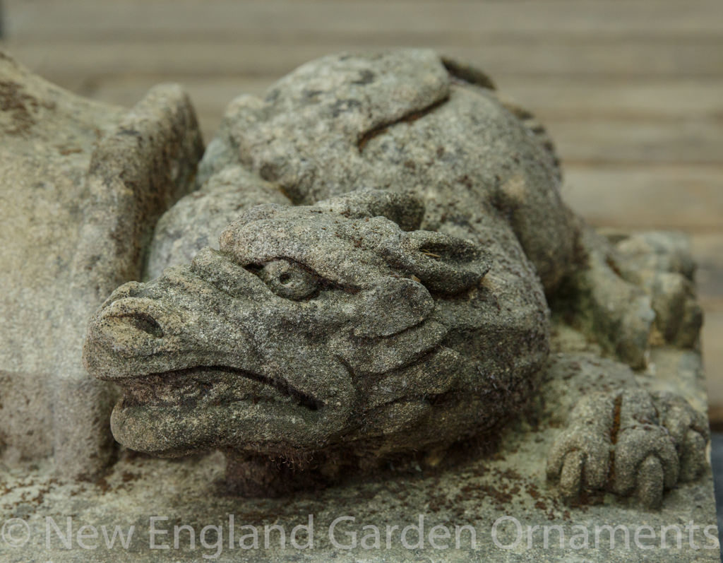Antique Carved Stone Dragon