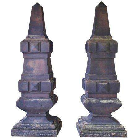 Rare Antique Stone Obelisks