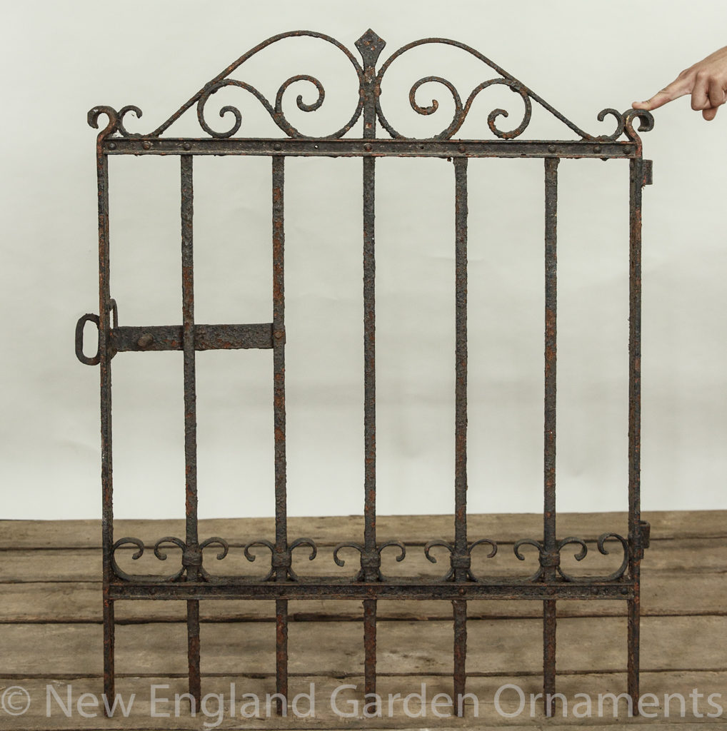 Antique Black Iron Gates