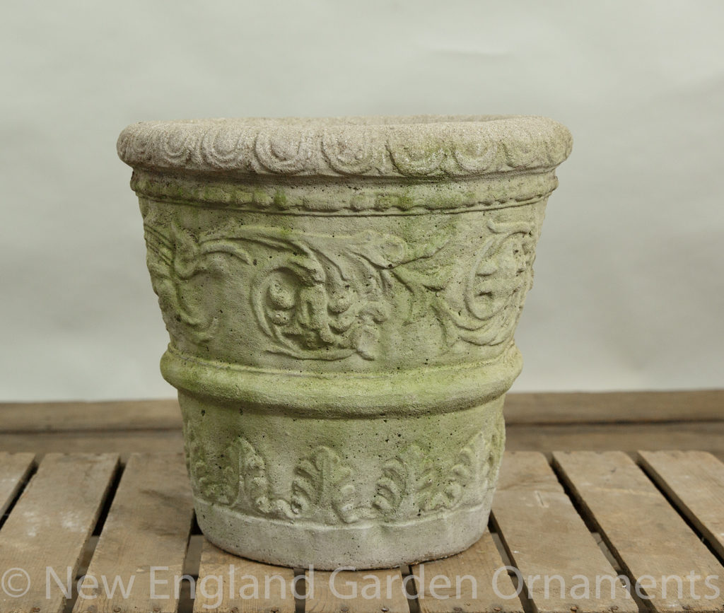Tapered Cast Stone Planter