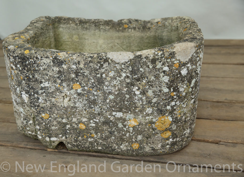 Antique Carved Stone D Trough
