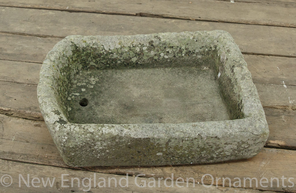 Antique Carved Small D Trough
