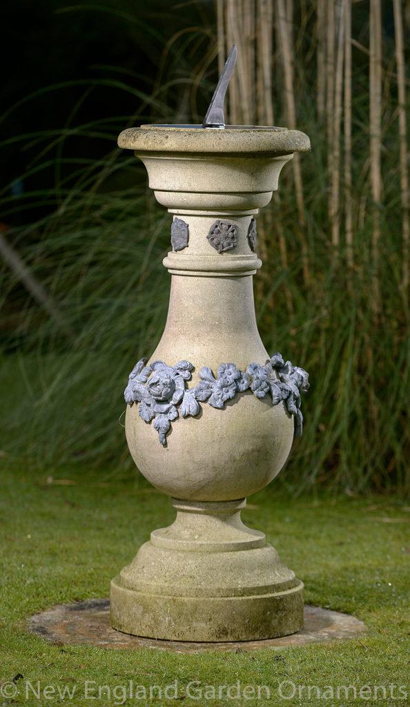 Elegant Carved Limestone Sundial