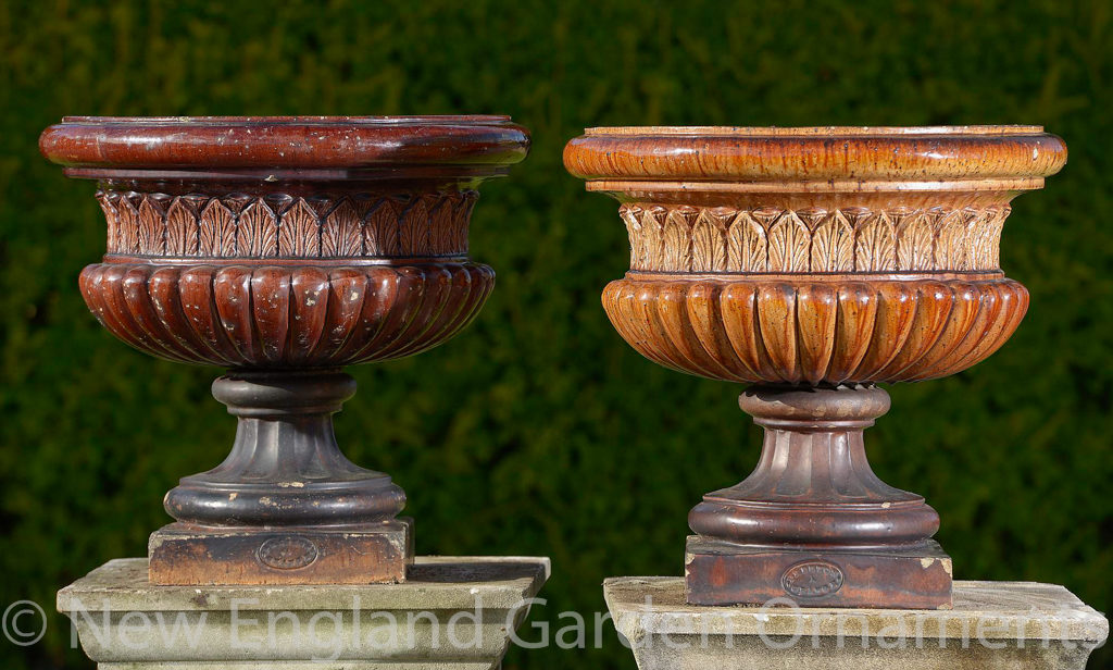 Salt Glazed Fireclay Urns