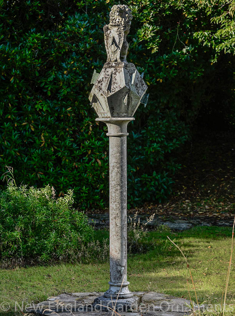 Magnificent Antique Stone Polyhedral Sundial