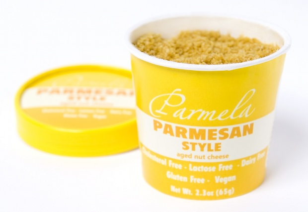 4 Cups of Parmela Vegan Parmesan Style Cheese
