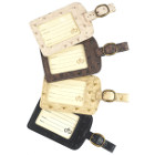 Faux Ostrich Organizer and Luggage Tag Set