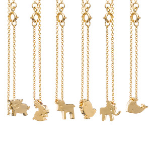 14K Gold Plated Animal Bracelet
