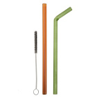 Sustainable Reusable Glass Straw 2-Pack with Brush