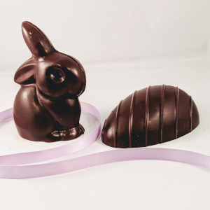 Chocolate Easter Bunny & Egg Gift Set