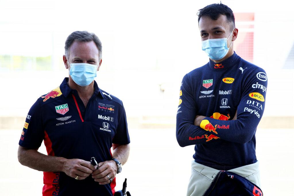 Christian Horner e Alex Albon (Foto: Red Bull Content Pool)