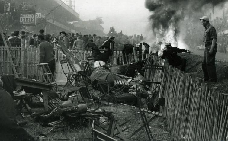 24 Horas de Le Mans 1955, Acidente