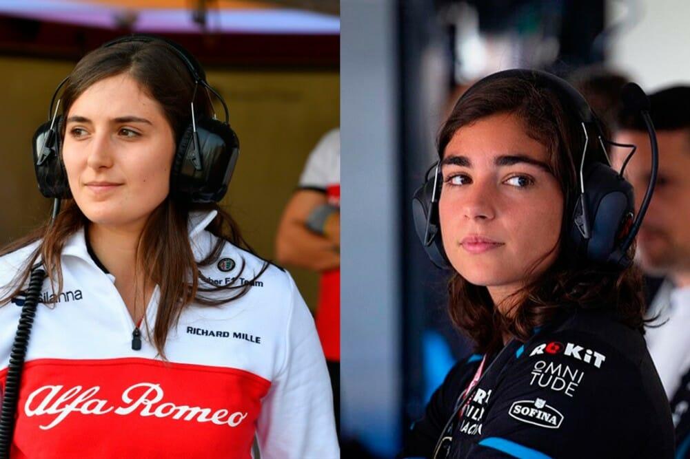Tatiana Calderón e Jamie Chadwick (Foto: F1)