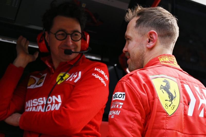 Sebastian Vettel, Ferrari, Fórmula 1, Mattia Binotto