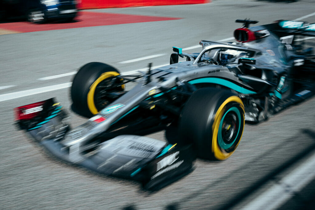 Mercedes em teste de pré-temporada em Barcelona (Foto: Sebastian Kawka/Mercedes)