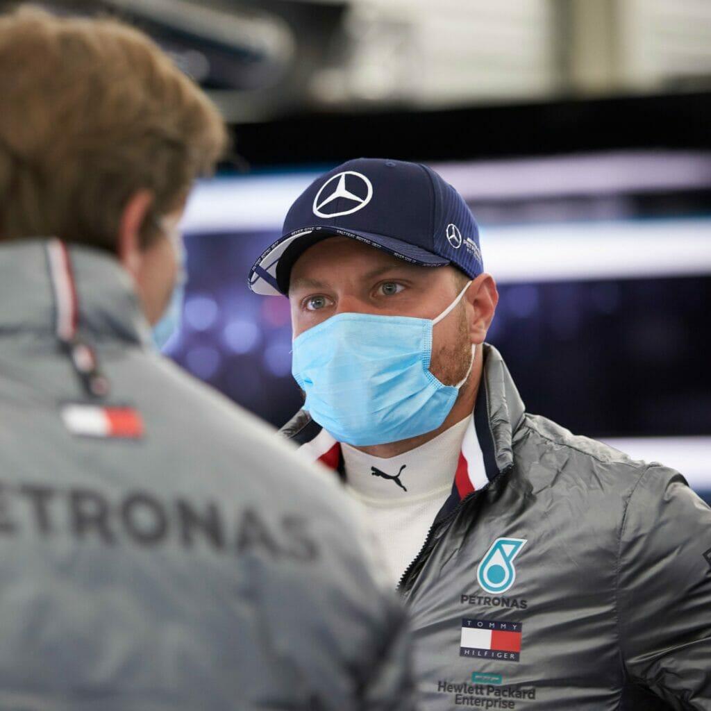 Valtteri Bottas durante dia de testes com W09 em Silverstone (Foto: Mercedes)
