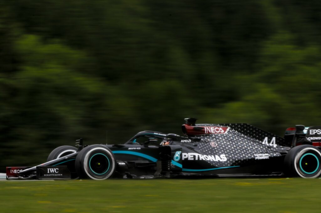 Lewis Hamilton no TL1 do GP da Áustria