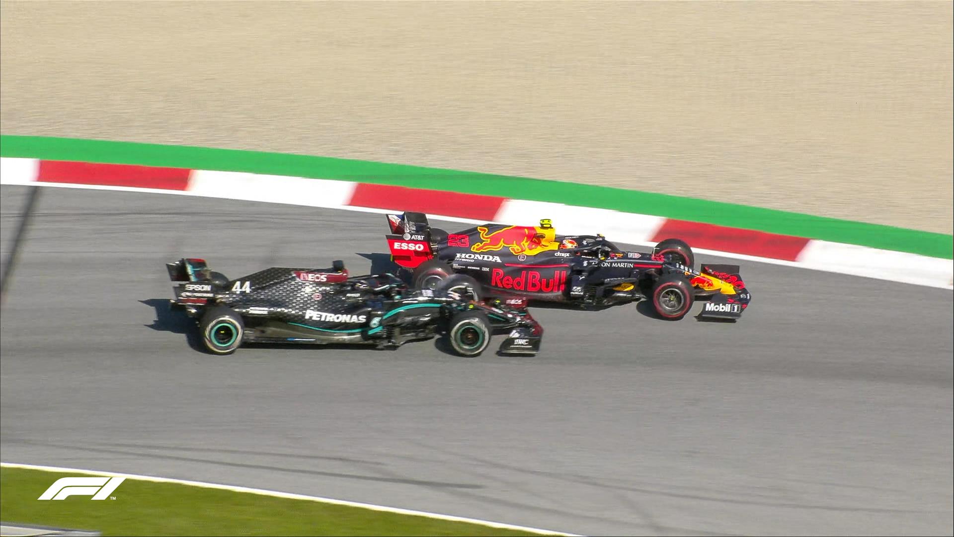 GP da Áustria 2020, Hamilton, Albon